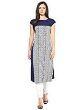 Buy ZIYAA Women's Straight Crepe Kurta (1205_MAP_M) from Amazon
