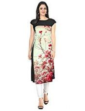 Buy ZIYAA Women's Straight Crepe Kurta (ZIKUCR053-Multi-M) from Amazon