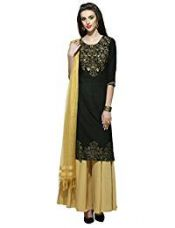Buy Aurelia Women's Straight Kurta (16AUK12756-61610_Black_Medium) from Amazon