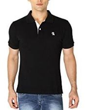 Buy The Company Men's T-Shirt (Polo001_Medium_Black) from Amazon
