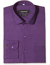 Dennison Men's Formal Shirt (SS-16-22_40_Purple) for Rs. 599