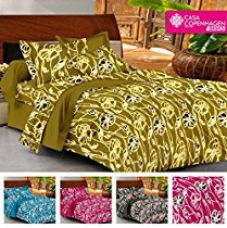 Buy Casa Basic 144 Thread Count Double Bedsheet With 2 Pillow Cover-Grren from Amazon