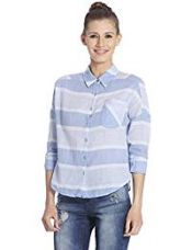 ONLY Women's Striped T-Shirt (15109269_40_Cloud Dancer) for Rs. 798