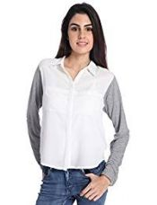 Buy ONLY Women's Button Down Shirt (1733762003_Cloud Dancer_38) from Amazon