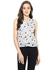 ONLY Women's Button Down Shirt (1739001003_Light Grey Melange_38) for Rs. 847
