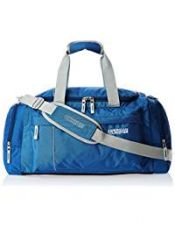 Buy American Tourister Nylon 55 cms Blue Travel Duffle (40X (0) 01 008) from Amazon
