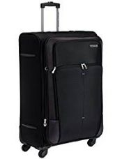 Buy American Tourister Crete Polyester 77cms Black Softsided Suitcase (49W (0) 09 003) from Amazon