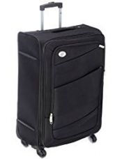 Buy American Tourister Polyester 69 cms Black Softsided Suitcase (00W (0) 09 002) from Amazon