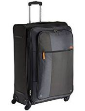 Buy American Tourister Hugo Polyester 77 cms Grey Softsided Suitcase (53W (0) 08 003) from Amazon