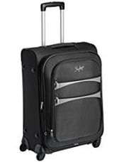 Skybags Polyester 57 cms Black Softsided Suitcase (STROVW57BLK) for Rs. 3,399