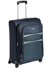 Buy Skybags Polyester 67 cms Blue Softsided Suitcase (STROVW67BLU) from Amazon