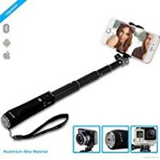 Buy ZAAP NUSTAR1 Bluetooth Aluminium Premium Selfie Stick with In-built Remote Shutter | 4000+ clicks per charge | For iPhone, Andriod, Gopro & other Smartphones from Amazon