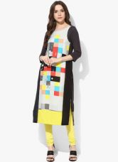 Buy W Multicoloured Printed Crepe Kurta for Rs. 780
