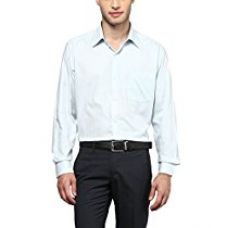 Buy American Crew Men's Full Sleeve White & Sky Blue Stripes Shirt With Pocket - 40 (ACX29-40) from Amazon