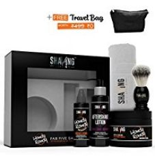 Shaving Station - free travel Bag -  Paraben & Sulphate Free - Vetiver & Cedarwood  - 5 items included for Rs. 1,599