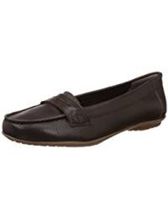 bfc64ebca05 Buy Hush Puppies Women s Ceil Penny Brown Leather Loafers and Mocassins - 6  UK India