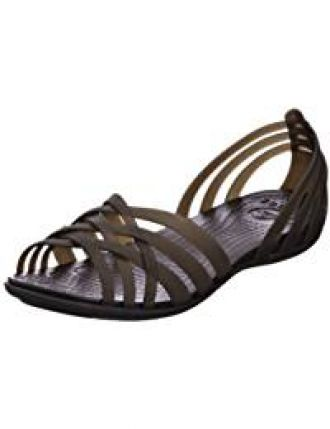 b2d1f997ead7 Buy crocs Women s Huarache Flat Black Fashion Sandals-W7(14121-060) from
