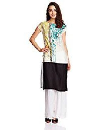 W for Woman Women's Straight Kurta (16FE15541-57015_Multi Color_10) for Rs. 735
