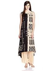 Buy W for Woman Women's Straight Kurta (16FE15641-57283_Beige_10) from Amazon