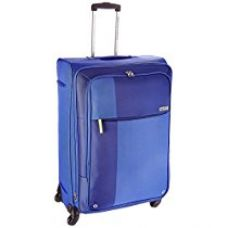 Buy American Tourister Hugo Polyester 77 cms Blue Softsided Suitcase (53W (0) 01 003) from Amazon