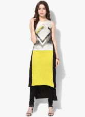 W Multicoloured Printed Kurta for Rs. 999