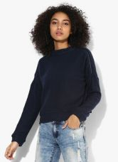 Get 50% off on Vero Moda Navy Blue Solid Blouse