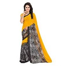 Buy Fabdeal Georgette Saree (Aala62Sr5133Aoc_Yellow) from Amazon