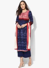 Get 40% off on Biba Navy Blue Printed Palazzo Kameez Dupatta