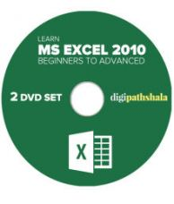 Learn Ms Excel 2010 from Beginner to Advanced Level 2 DVD Set (52 Video Lectures, 36 PDF's) for Rs. 299