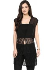 Get 80% off on Polyester Sheer Lace Shrug