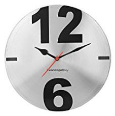 Buy Cosmos Galaxy Big Time Steel Wall Clock (Silver/Black) from Amazon