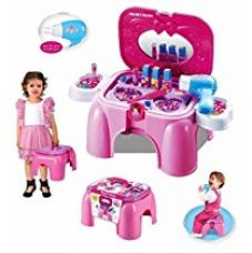 Buy Toyshine Carry Along Beauty Set Toy with Sitting Stool from Amazon