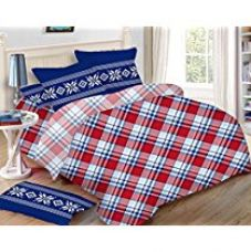 Uber Urban 110 TC Polycotton Bedsheet and 2 Pillow Covers - Abstract, Queen Size, Multicolour for Rs. 999