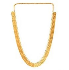 Zeneme Gold-Plated Temple Coin Chain Necklace Set For Women for Rs. 284