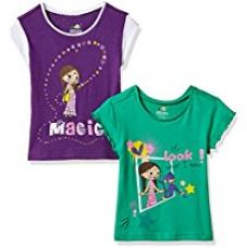Buy Chhota Bheem Girls' T-Shirt (Pack of 2) from Amazon