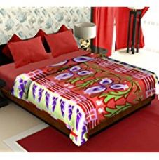 Buy Story@Home Coral Collection Soft Printed Fleece Polyester Double Bed Blanket - Multicolour from Amazon
