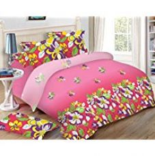 Uber Urban 110 TC Cotton Bedsheet and 2 Pillow Covers - Abstract, Queen Size, Multicolour for Rs. 999