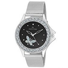 Swisstone Analogue Black Dial Girl's and Women's Watch - VOGLR501-BLK-CH for Rs. 397