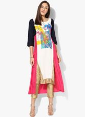 Buy W Multicoloured Printed Viscose Kurta for Rs. 1020