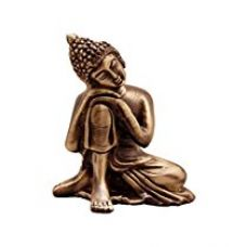 Buy eCraftIndia Resting Buddha on Knee Metal Showpiece (7.5 cm x 5.38 cm x 9.38 cm, Brown,AGB506) from Amazon