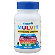 Buy HealthVit Mulvit A To Z Multivitamins and Minerals- 60 T for Rs. 249