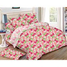 Buy Uber Urban 100% Cotton Queen size bedsheet with 2 pillow cover from Amazon