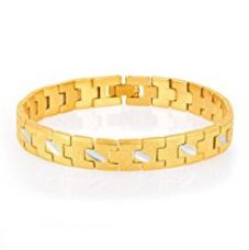 Buy Sukkhi Creative Gold And Rhodium Plated Bracelet for Men from Amazon