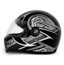 Vega Formula HP Warrior Full Face Graphic Helmet (Black and Silver, M) for Rs. 1,194