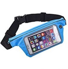 Buy Insasta Sweatproof Sports Running Waist packets,Sports Waist Pouch Wallet with earphone jack slot and front zipper,Travel Waist bag Carry Belts With Transparent Touch Screen Window For Various series Mobile Phone Under 6.0 Inches-(Color May Vary) from Amazon