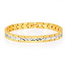 Buy Sukkhi Delightly Gold And Rhodium Plated Bracelet for Men from Amazon