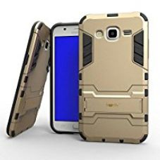 Buy Heartly Samsung Galaxy J5 (2015) SM-J529F Back Cover Graphic Kickstand Hard Dual Rugged Armor Hybrid Bumper Case - Mobile Gold from Amazon
