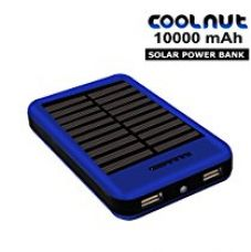 Buy COOLNUT CMSPBS-19 10000mAh Solar Power Bank,Blue (Made In India) from Amazon