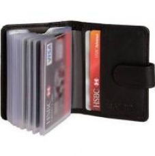 Leatherite Soft Black Leather Credit Card Holder Wallet for Rs. 125