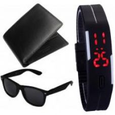 Zakina Black Wallet - Wayfair - LED Band For Men for Rs. 239